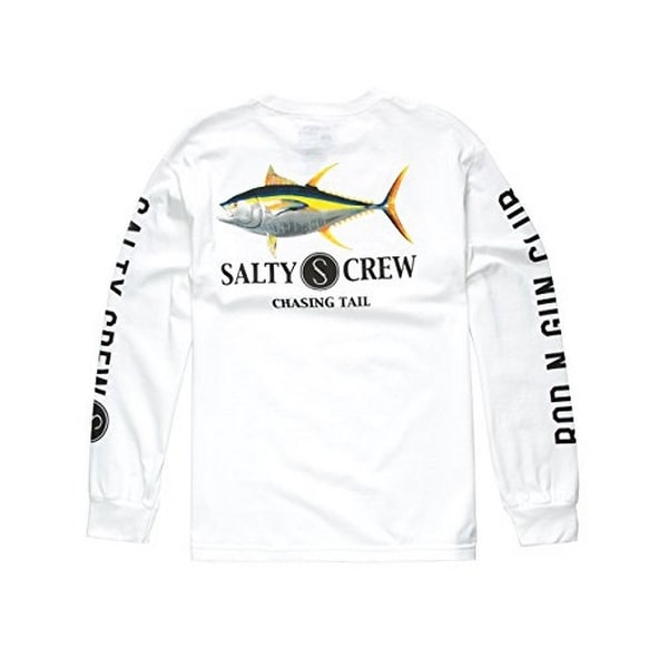 8e0e51fa2 Shop Salty Crew Mens Ahi L/S Tshirt, White - Free Shipping On Orders Over  $45 - Overstock - 23590364