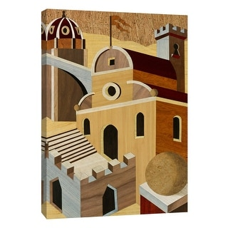 """PTM Images 9-108350  PTM Canvas Collection 10"""" x 8"""" - """"Village Scenery I"""" Giclee Houses Art Print on Canvas"""