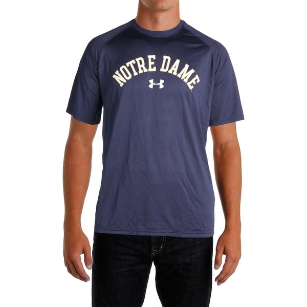 new product 18611 cd1c8 Under Armour Mens T-Shirt Notre Dame Heat Gear - XL