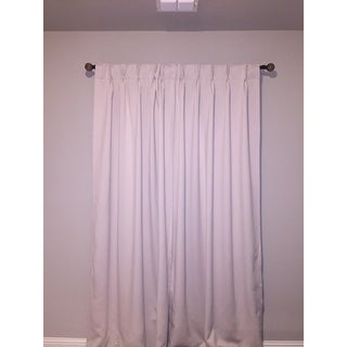 Porch & Den Bolling Sateen Woven Blackout Curtain Panel Pair with Pinch Pleat Top