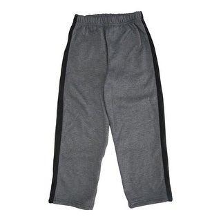 Star Wars Little Boys Grey Black Side Striped Elastic Waist Sweat Pants 4-7
