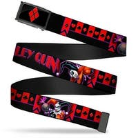 Harley Quinn Diamond Fcg Black Red  Chrome Harley Quinn Bomb Poses Web Belt