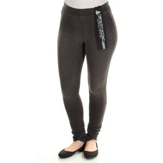 Womens Gray Casual Leggings Size S