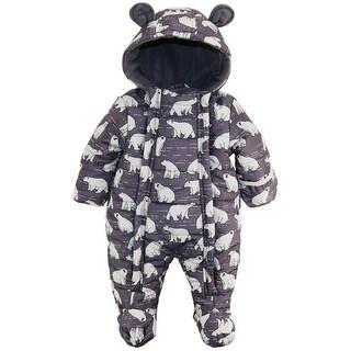 Wippette Baby Boys Polar Bear Puffer Microfiber Winter Snowsuit Pram Bunting