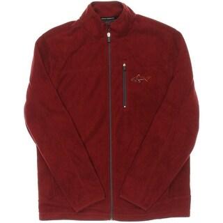 Greg Norman for Tasso Elba Mens Mock Neck Long Sleeves Fleece Jacket