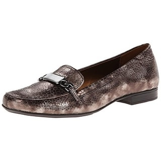Naturalizer Womens Radka Loafers Faux Leather Lizard Print