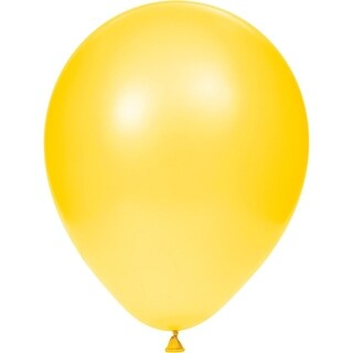 Club Pack of 180 Citrine Yellow Sun kissed Latex party Balloons 8