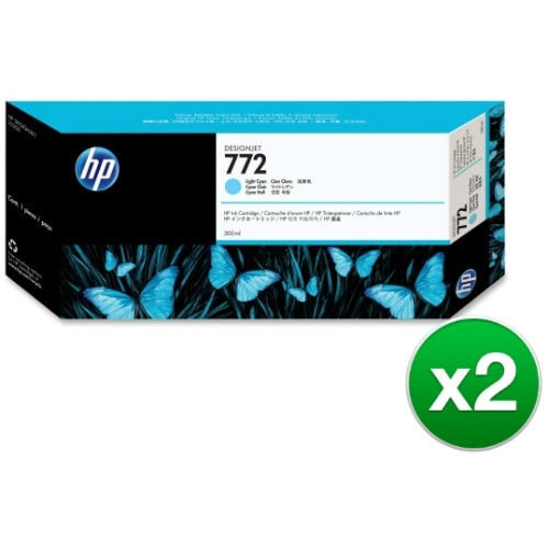 HP 772 300-ml Light Cyan DesignJet Ink Cartridge (CN632A)(2-Pack)
