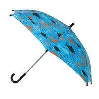 CTM® Kids' Shark Print Stick Umbrella - One size