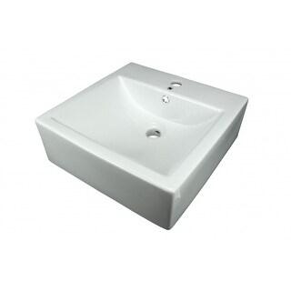 Bathroom Vessel Sink White China Bostonian Square | Renovator's Supply
