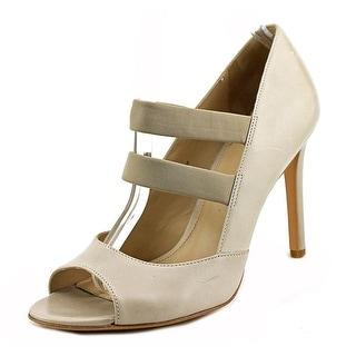 Via Spiga Ettie Women Open-Toe Leather Ivory Heels