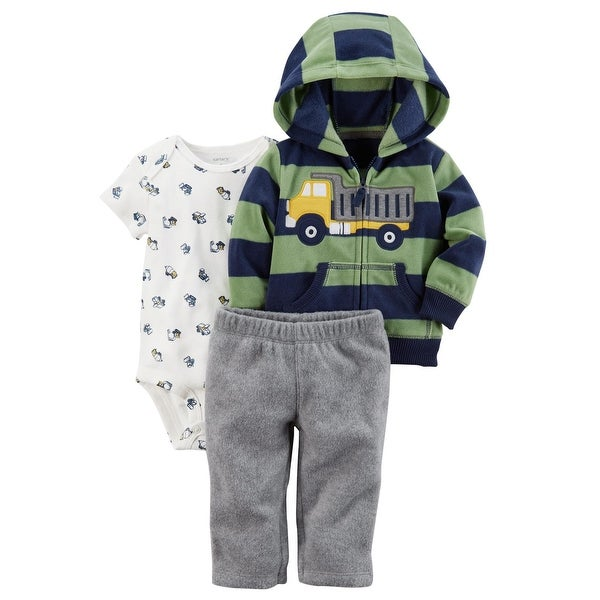 92859acc5783 Shop Carter s Baby Boys  3 Piece Striped Truck Cardigan Little Jacket Set  24 Months - Free Shipping On Orders Over  45 - Overstock - 19508052