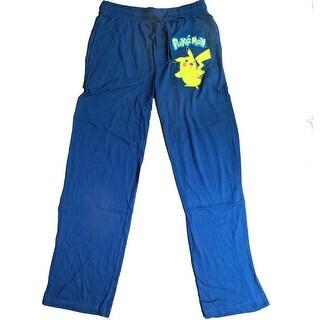 Pokemon Pikachu Adult Men's Navy Lounge Pants Medium,XX-Large
