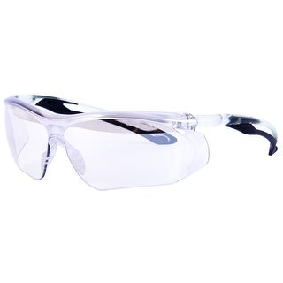Forney 55429 Safety Glasses, Parralax with Black Flex Temple and Clear Frame