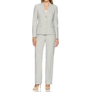 Le Suit Stoine Gray Womens Size 18 Plus Pinstriped Pant Suit