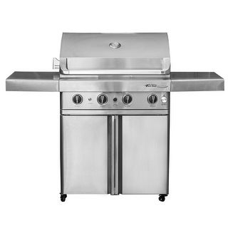 Barbeques Galore 2017 Turbo Elite 4-Burner Freestanding Gas Grill