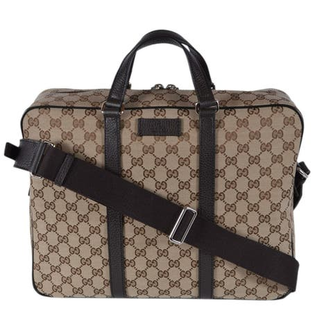 a74aa3e7bbc5 Gucci 449168 GG Guccissima Canvas Briefcase Messenger Laptop Tote Bag -  Beige