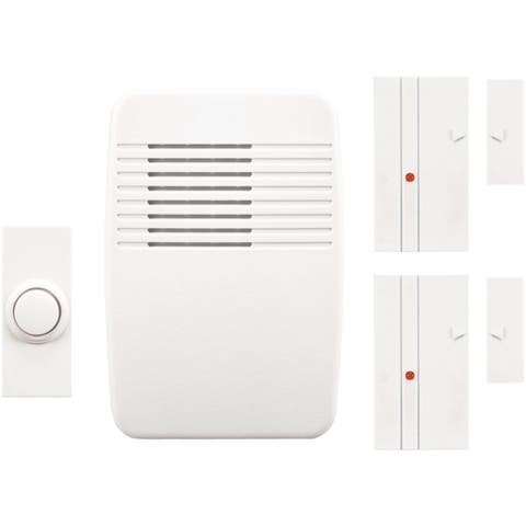 Heathco SL-7052-00 Wireless Plug-In Door Chime and Entry Alert Kit, White