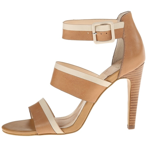 Isola Womens Brianna Leather Open Toe Casual Strappy, Tan/Beige, Size 8.5