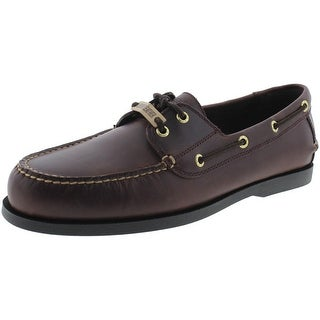 Dockers Mens Vargas Leather Lace-Up Boat Shoes