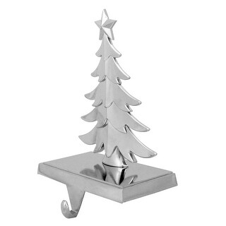 7.25 Silver Christmas Tree Stocking Holder