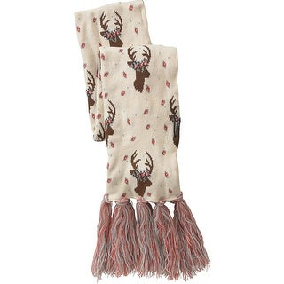 Legendary Whitetails Ladies Happy Glamper Floral Deer Scarf - White - One Size