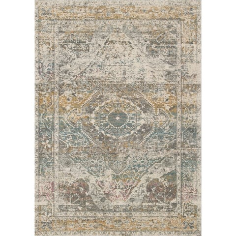 Alexander Home Malik Boho Diamond Distressed Area Rug