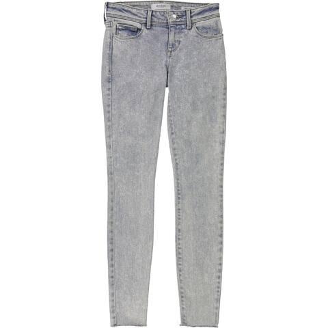 Guess Womens Raw-Hem Skinny Fit Jeans