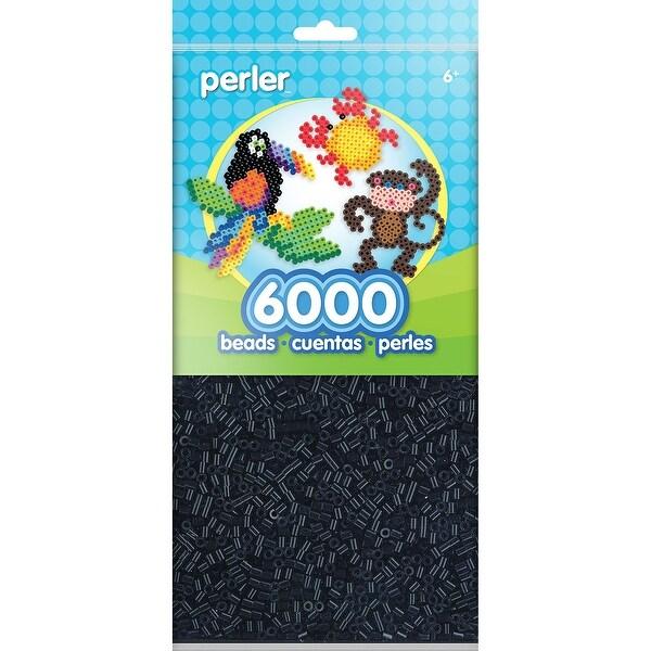 Perler Beads 6,000/Pkg-Black