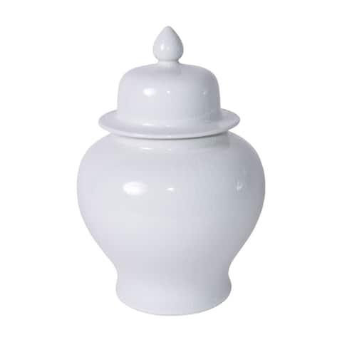 Crackle Temple Decorative Jar