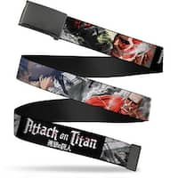 Blank Black Buckle Attack On Titan Eren Battling Colossal Titan Web Belt