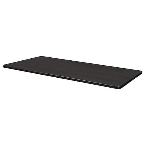 "48"" x 24"" Rectangle Laminate Table Top- Ash Grey/ White"