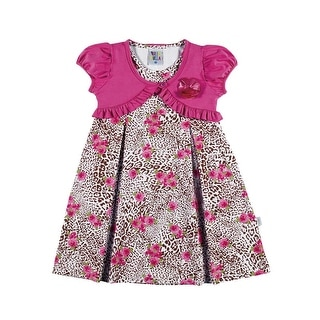 Toddler Girl Dress Infant Summer Cheetah Sundress Pulla Bulla Sizes 1-3 Years