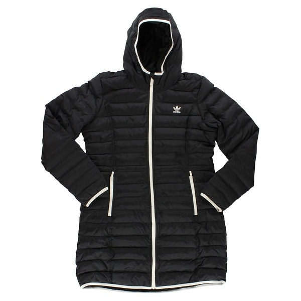 f07c82eac3299 Shop Adidas Womens Slim Padded Coat Black - L - Free Shipping Today -  Overstock - 22573840