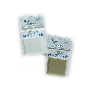Mini Cards 2.5x5 10pc White
