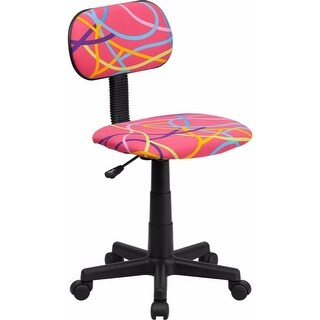 Offex Multi-Colored Swirl Printed Pink Computer Chair [OF-BT-OLY-GG]