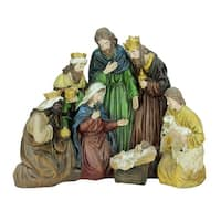 "21"" Religious Holy Family and Three Kings Christmas Nativity Scene Decoration"