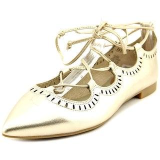 Easy Spirit Jamilyn Women W Round Toe Leather Gold Flats