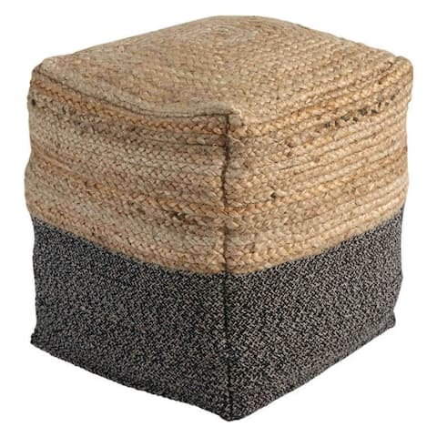 Sweed Valley Pouf - Natural-Black A1000422 Sweed Valley Pouf