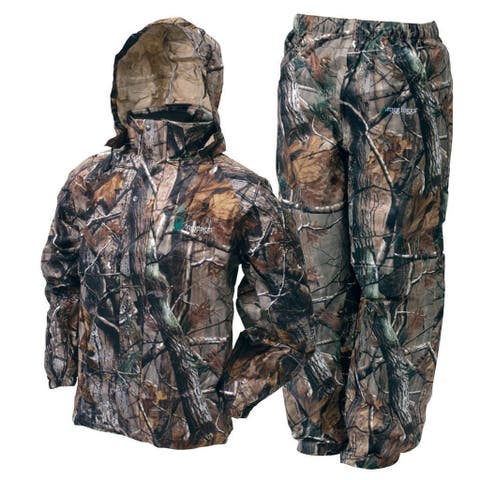 Frogg Toggs Camo All Sport Jacket Pants Combo Realtree Xtra Rain Suit
