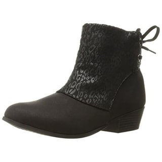 Jessica Simpson Girls Leo Ankle Boots Animal Print
