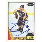 Jay Wells Los Angeles Kings 1987 Opee Chee Autographed Card This item comes with a certificate of authenticity from A