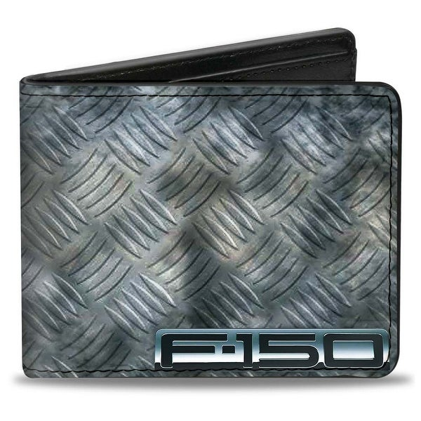 F 150 + Ford Truck Checker Metal Diamond Plate Bi Fold Wallet - One Size Fits most
