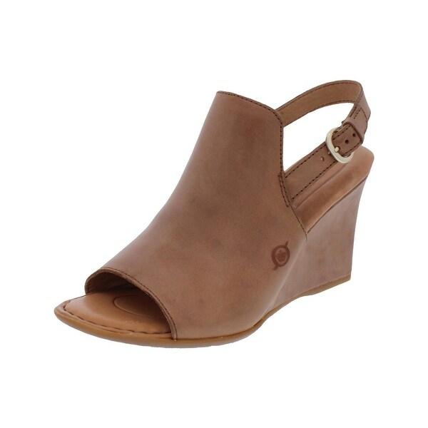 Born Womens Bevi Wedge Sandals Open Toe Casual - 7 medium (b,m)