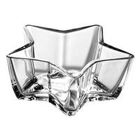 Majestic Gifts  7.1 in. Stella Star Shaped Glass Bowl, Clear