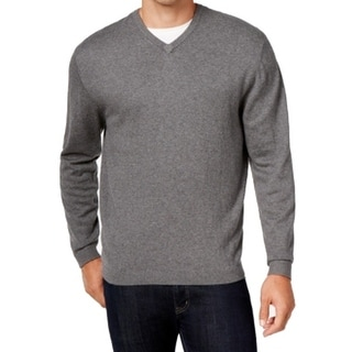 Weatherproof NEW Gray Mens Size XL V-Neck Ribbed Pullover Sweater