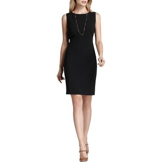T Tahari Womens Cali Wear to Work Dress Heathered Short Sleeves