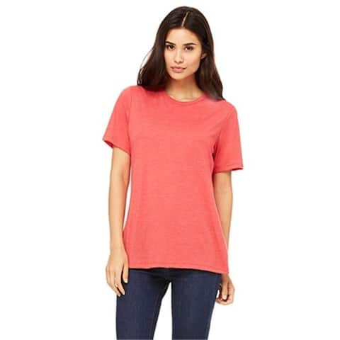 Bella 6400 Womens Relaxed Jersey Short Sleeve Tee - Red Triblend Small