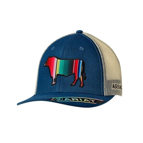 ... germany ariat western hat mens snap logo serape bull baseball os blue  ed4f2 227d7 3cc118ea23e4