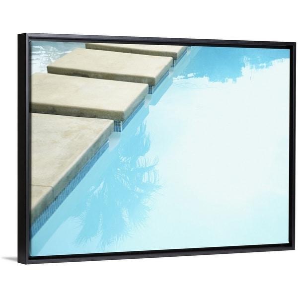 shop floating frame premium canvas with black frame entitled walkway